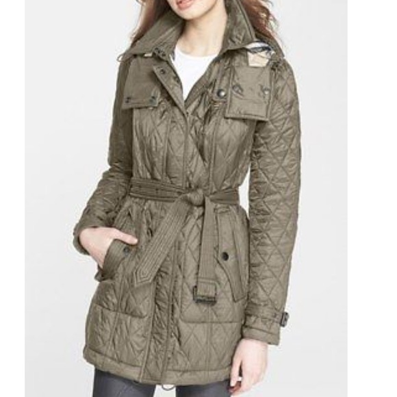 Burberry Jackets Coats Brit Finsbridge Belted Quilted Jacket
